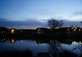 Night time Lakeside Lodges 1